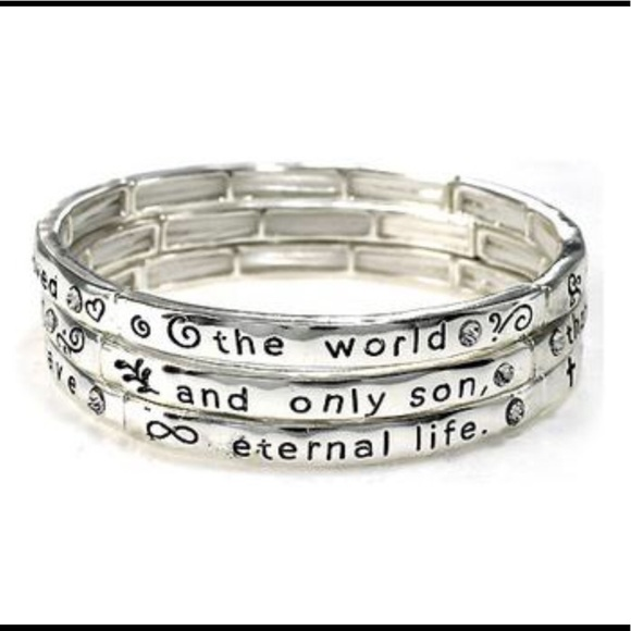 New Inspirational Religious Engraved Bracelet